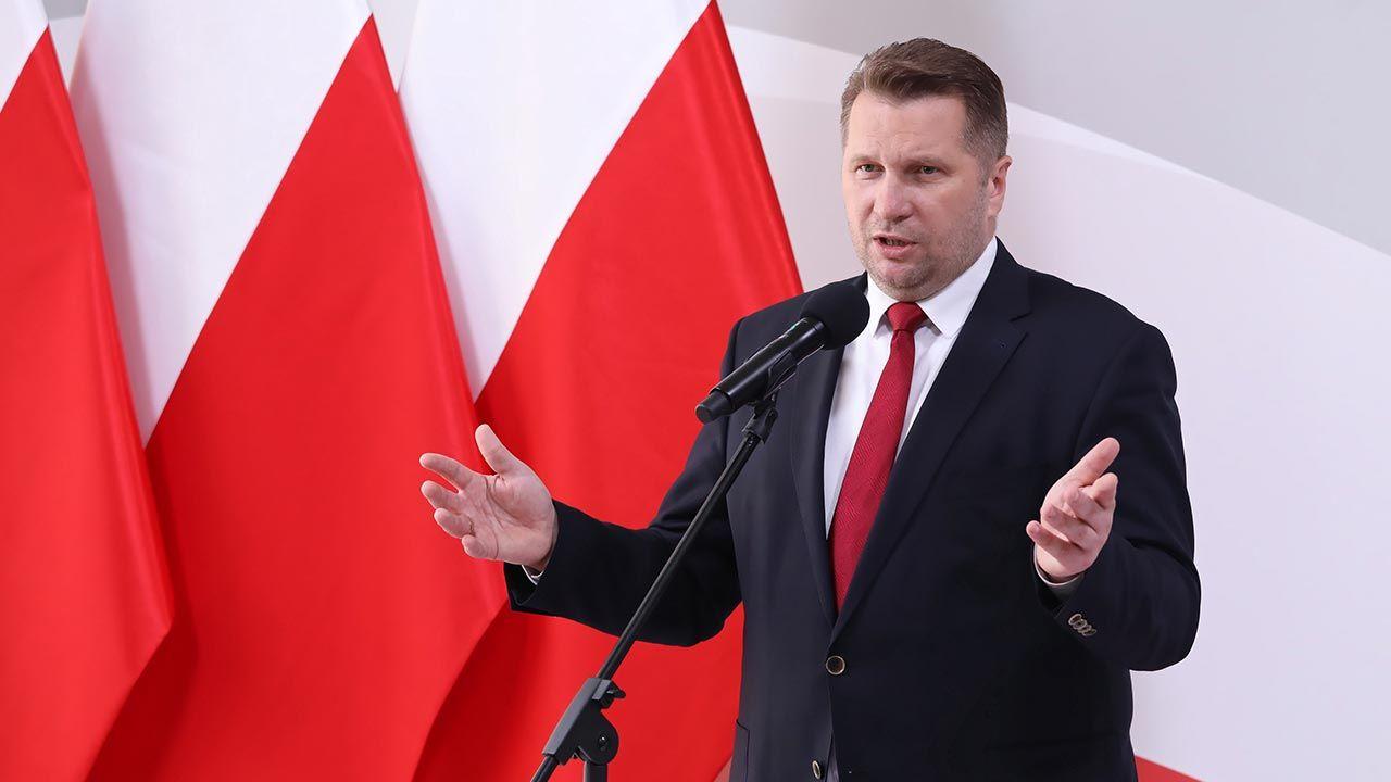 Minister edukacji i nauki Przemysław Czarnek (fot. PAP/Tomasz Gzell)