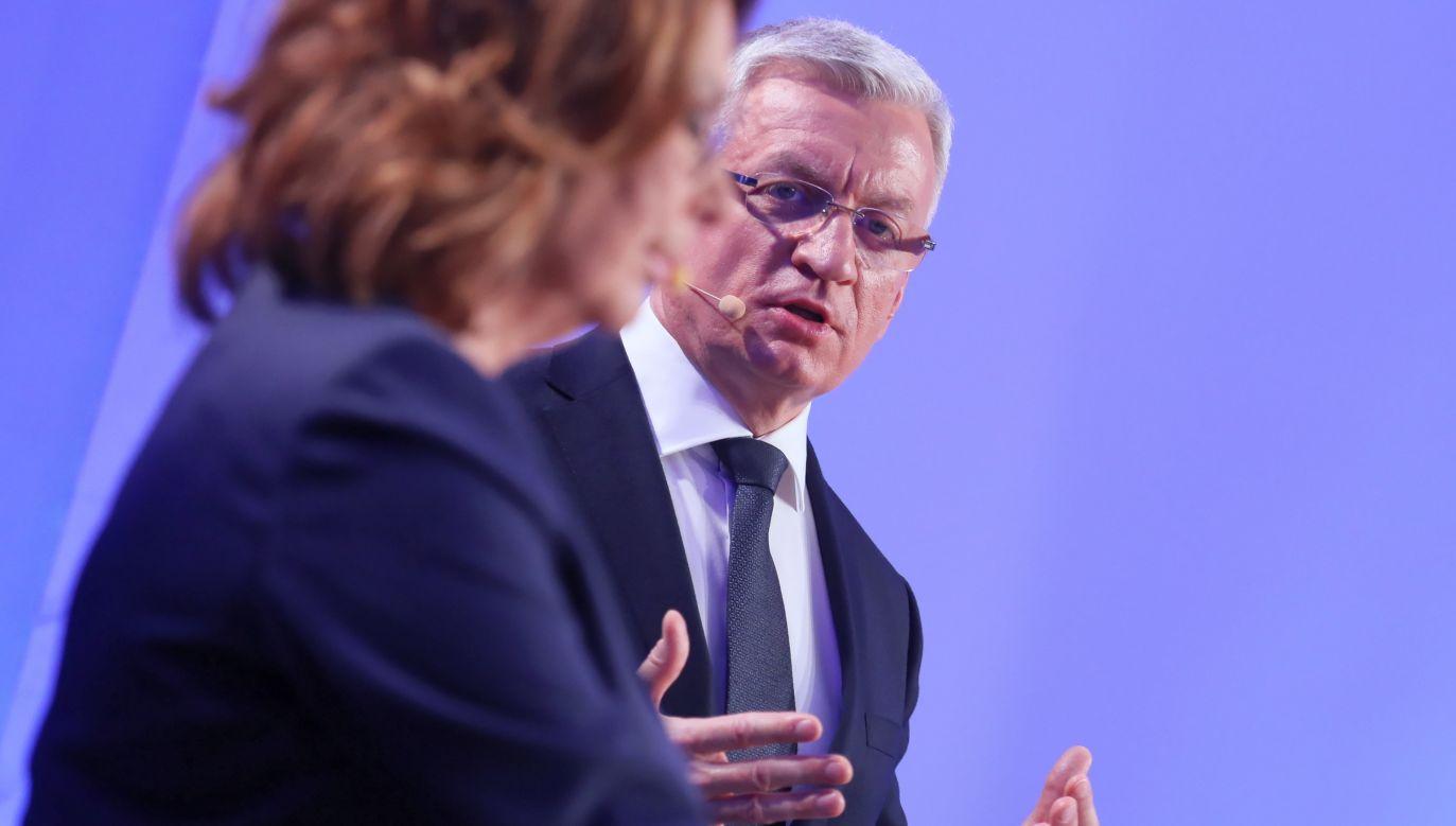 Debata kandydatów w prawyborach PO odbyła się w sobotę w Warszawie. Ostateczny kandydat ugrupowania zostanie wyłoniony za tydzień, 14 grudnia (fot. PAP/Paweł Supernak)