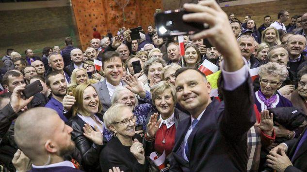 W niedzielę minęło pięć lat od wygranej Andrzeja Dudy z Bronisławem Komorowskim. (fot. Jakub Szymczuk/KPRP)