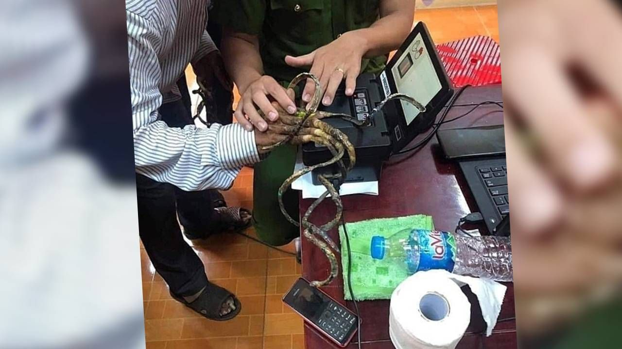 Luu Cong Huyen jest dumny ze swoich paznokci (fot. Giao Thuy District police)