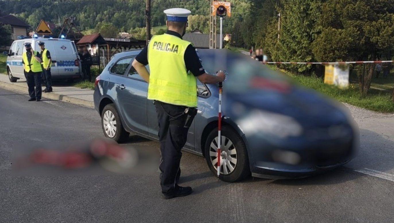 Policjanci proszą o kontakt świadków tego wypadku (fot. Policja śląska)