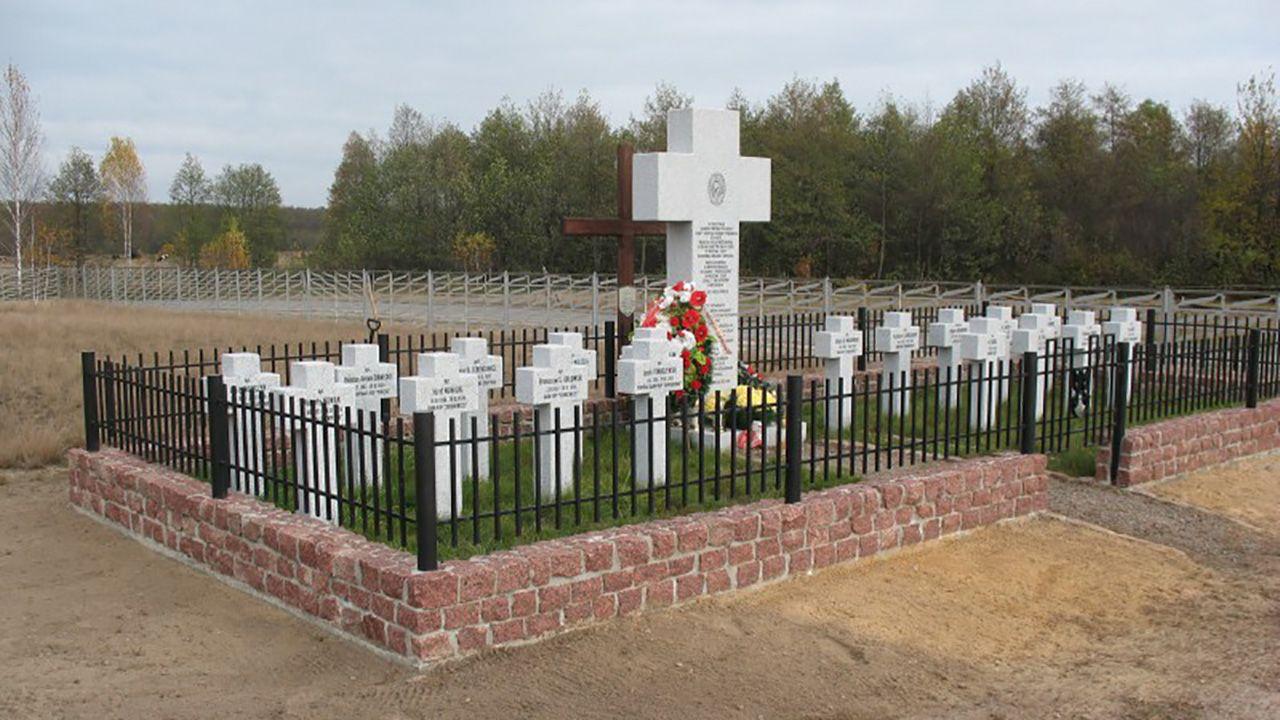 Groby żołnierzy Korpusu Ochrony Pogranicza (KOP) w Mielnikach na Ukrainie (fot. nszzfsg-chelm.org)