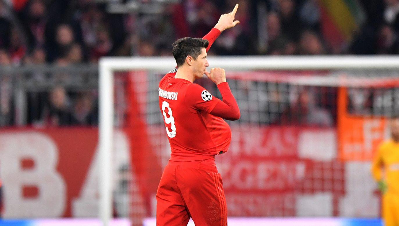 Bramka przeciwko Olympiakosowi Pireus była już 20 trafieniem Lewandowskiego w tym sezonie (fot. Sebastian Widmann/Bongarts/Getty Images)