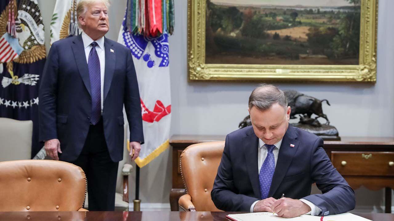 Prezydent USA Donald Trump i prezydent RP Andrzej Duda (fot. KPRP/Jakub Szymczuk)