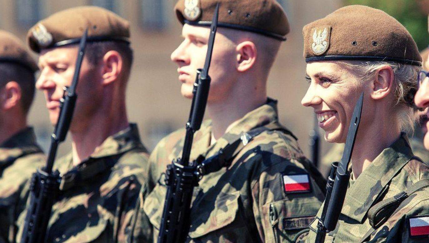 Iga Baumgart-Witan mówi, że gdy patrzy na swój mundur, czuje dumę (fot. Facebook/Wojska Obrony Terytorialnej)