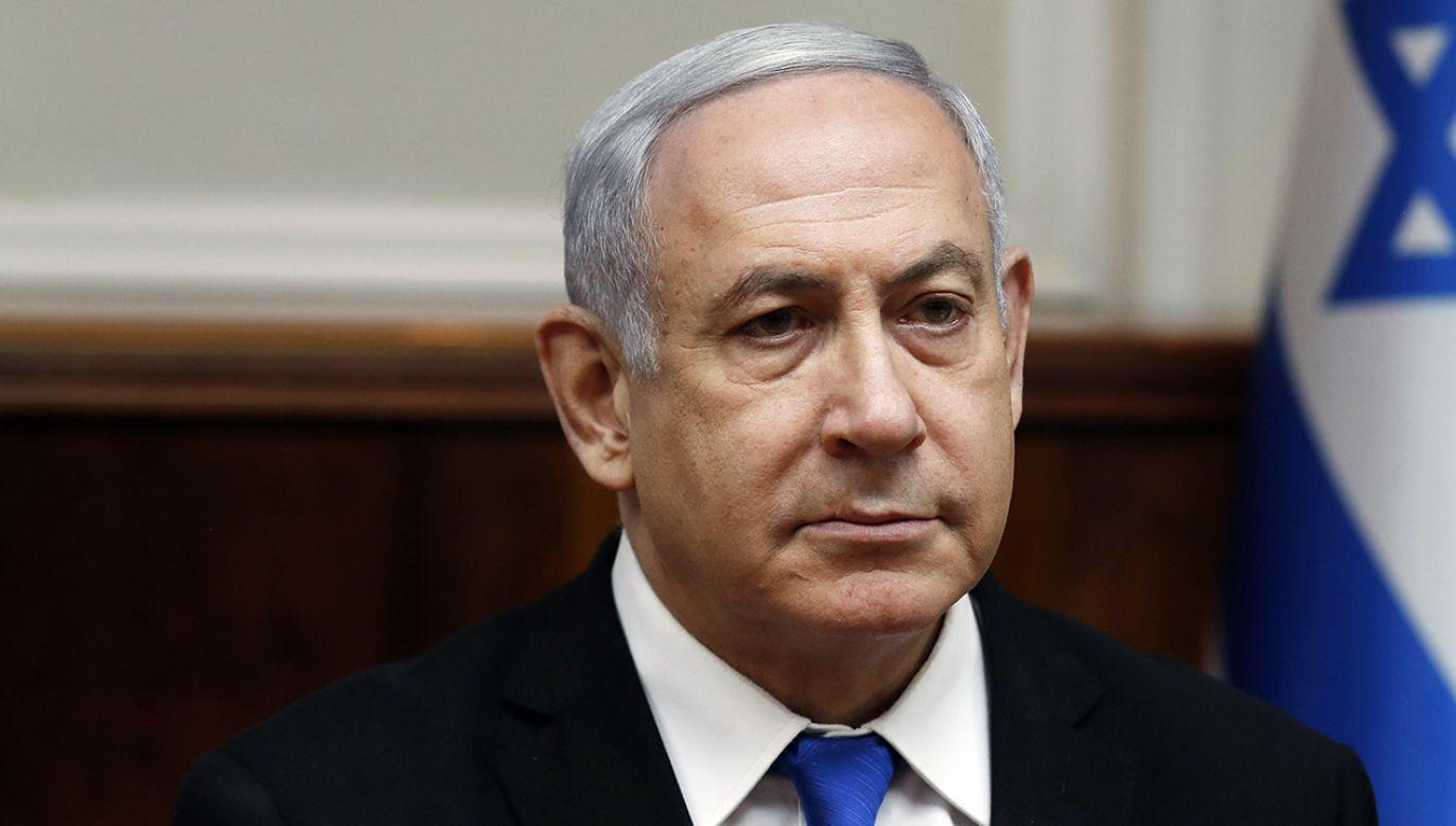 Premier Benjamin Netanjahu chciał utworzenia rządu jedności (fot. PAP/EPA/RONEN ZVULUN / POOL)
