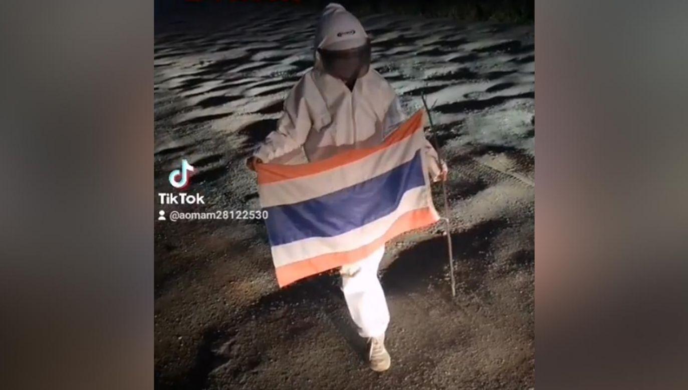 """Aomam Chaluayjit Wansueb poinformowała na TikToku o """"odkryciu nowej planety"""" (fot. TikTok/aomam28122530)"""
