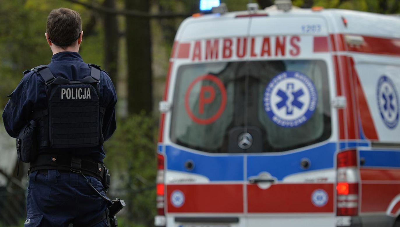 Na miejsce skierowano służby ratunkowe, w tym strażaków i Lotnicze Pogotowie Ratunkowe (fot. Artur Widak/NurPhoto via Getty Images)