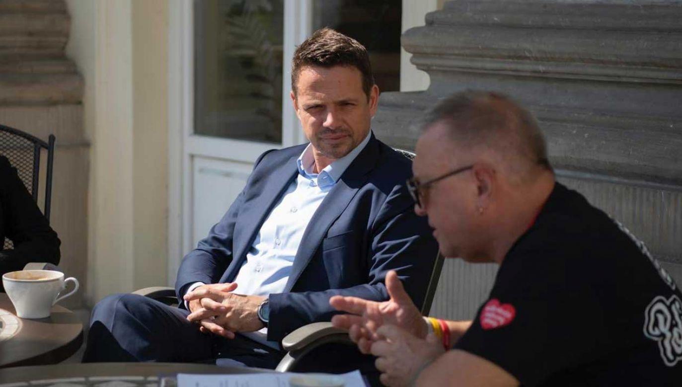 Prezydent Warszawy chwali się spotkaniem z Jerzym Owsiakiem (fot. Twitter/Rafał Trzaskowski)