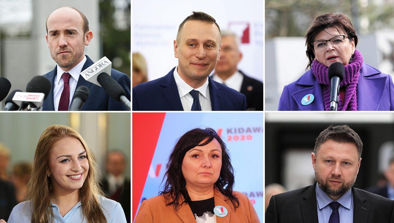 Lista polityków PO (fot. PAP/Marcin Obara, Rafał Guz, Wojciech Olkuśnik, Leszek Szymański)