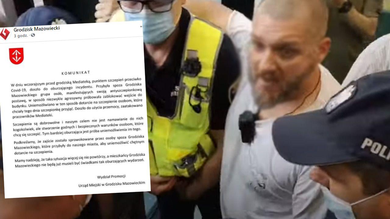 Antyszczepionkowcy byli agresywni (fot. MEDIA INFO TV. PL)