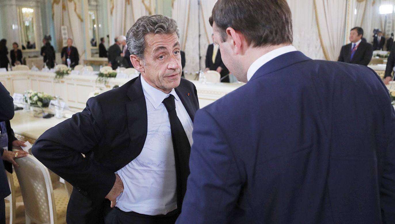 Nicolas Sarkozy oskarżony o korupcję. Będzie odpowiadać przed sądem  (fot. PAP/EPA/YURI KOCHETKOV)