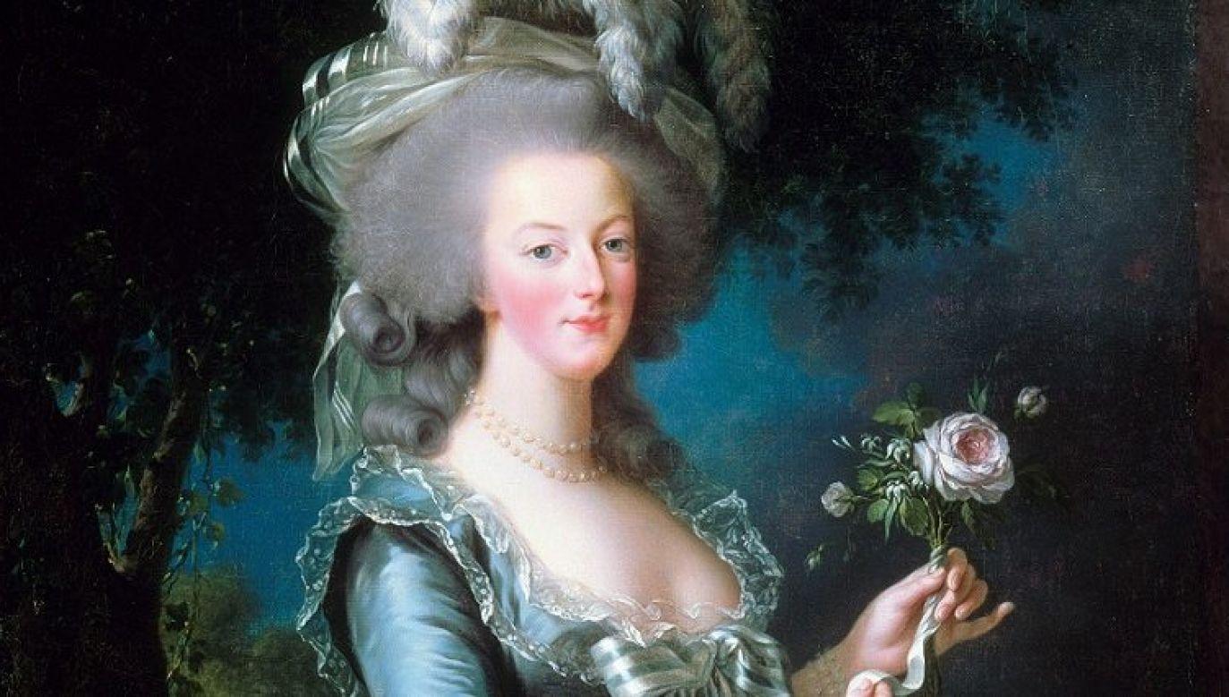 Fragment portretu królowej Marii Antoniny z różą pędzla Elisabeth Vigée-Le Brun z 1783 roku. Fot. Universal History Archive/Universal Images Group via Getty Images
