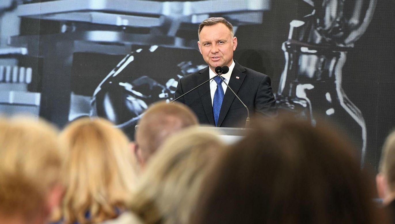 Prezydent Andrzej Duda (fot. PAP/Andrzej Lange)