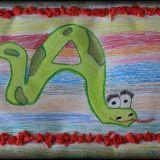 Ten obrazek wykonała Natasza Lisowska, 7,5 roku