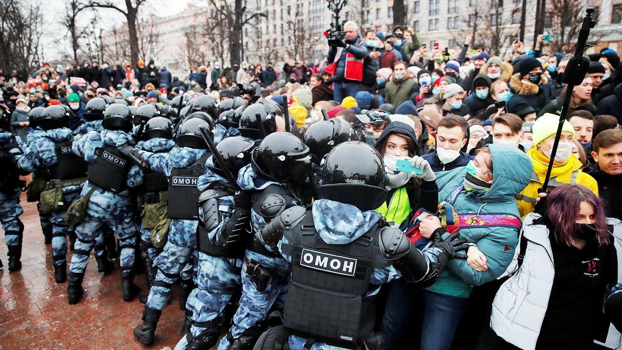 Wcześniej Nawalna  publikowała swoje zdjęcia z demonstracji (fot.  REUTERS/Maxim Shemetov)