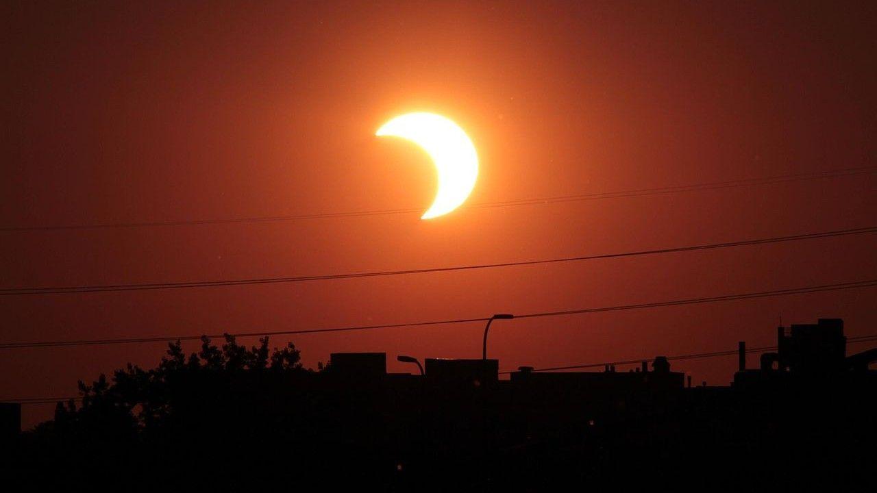 Eclipse solar visible desde Polonia el jueves 10 de junio.  ¿Cuándo miras? [WIDEO]