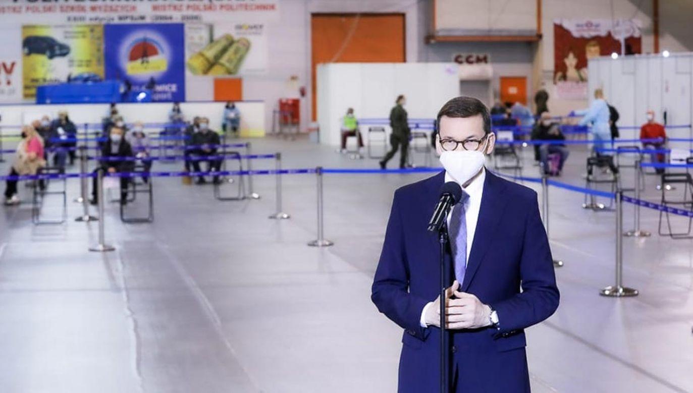 Premier Morawiecki zabrał głos ws. szczepień w Polsce (fot. Krystian Maj/KPRM)