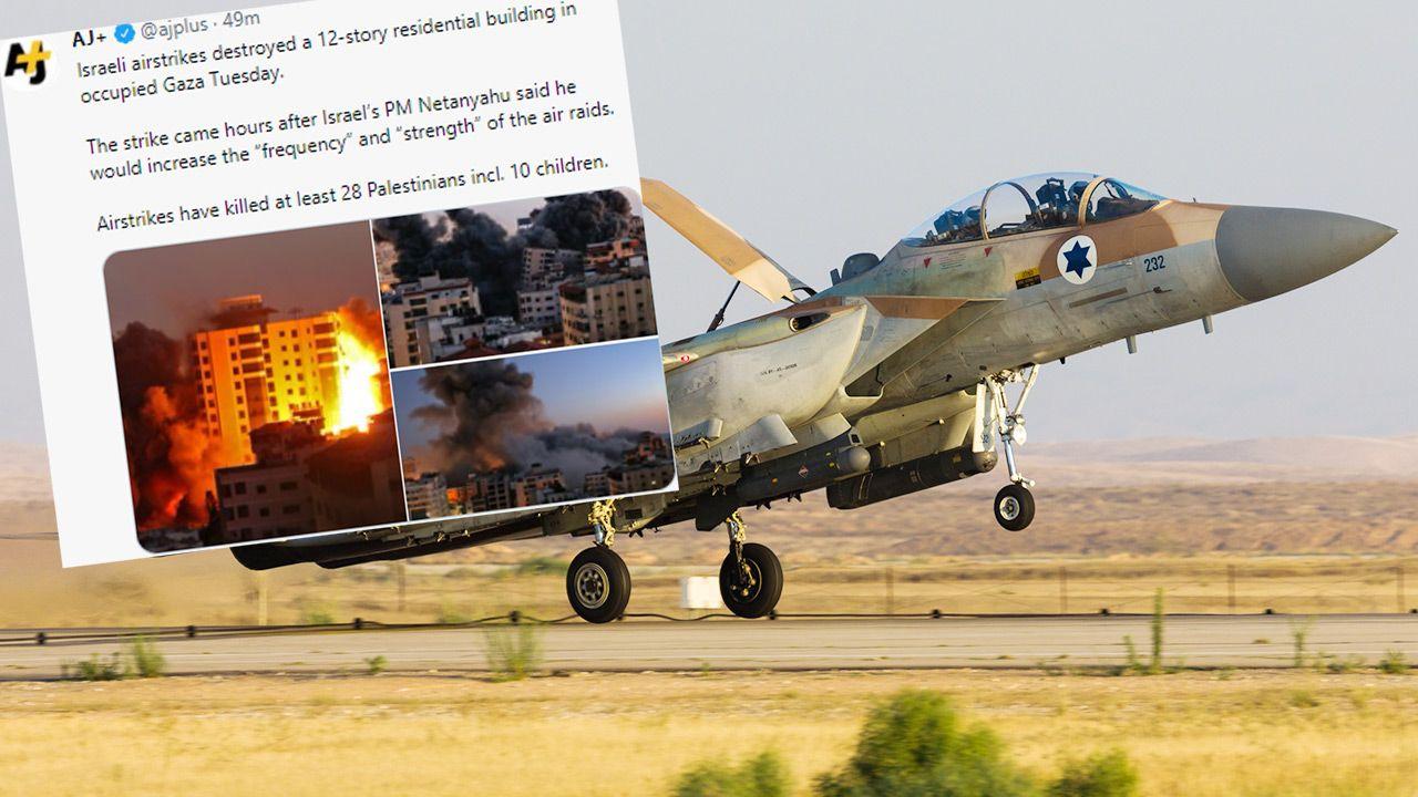 Gaza. Zawalił się wieżowiec po ataku izraelskich rakiet - tvp.info