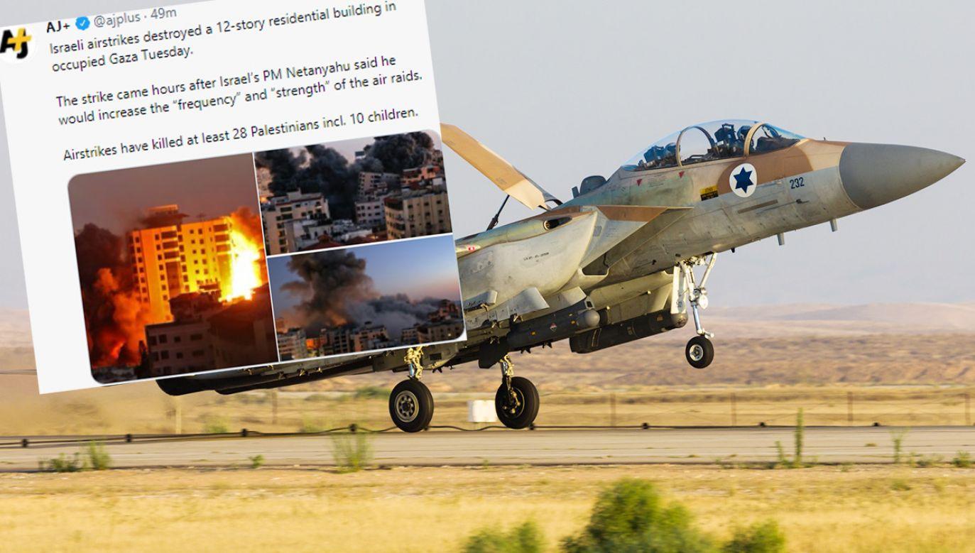 Wieżowiec zawalił się po izraelskim ataku (fot. Shutterstock; TT)