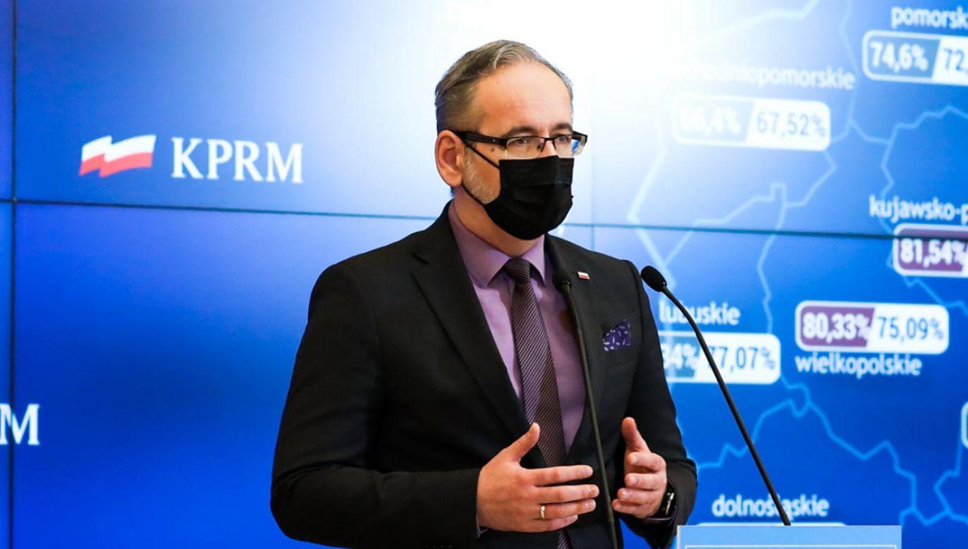 Minister zdrowia mówił m.in. o powrocie dzieci do szkół (fot. Adam Guz/KPRM)