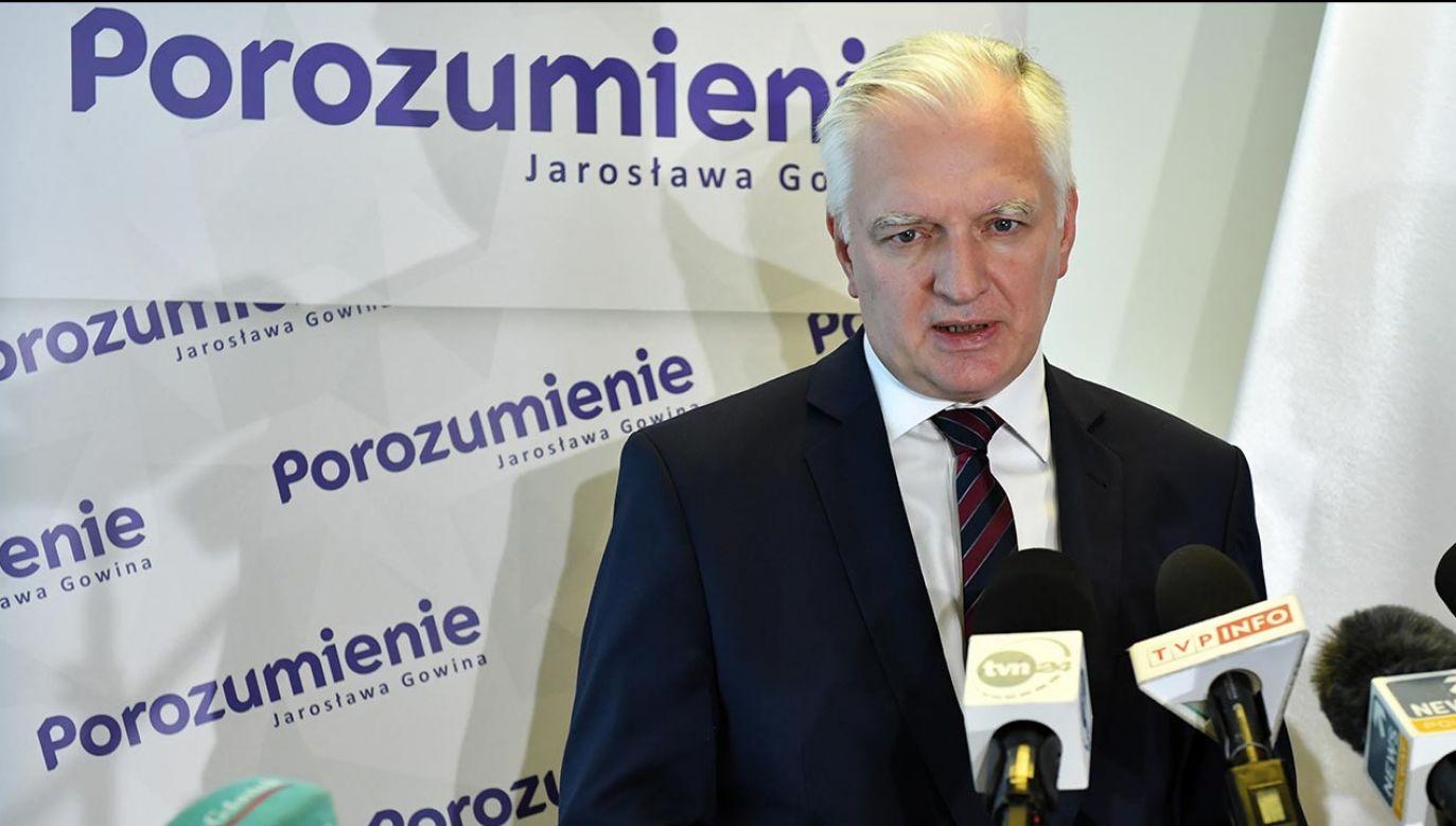 Lider Porozumienia Jarosław Gowin (fot. PAP/Adam Warżawa)