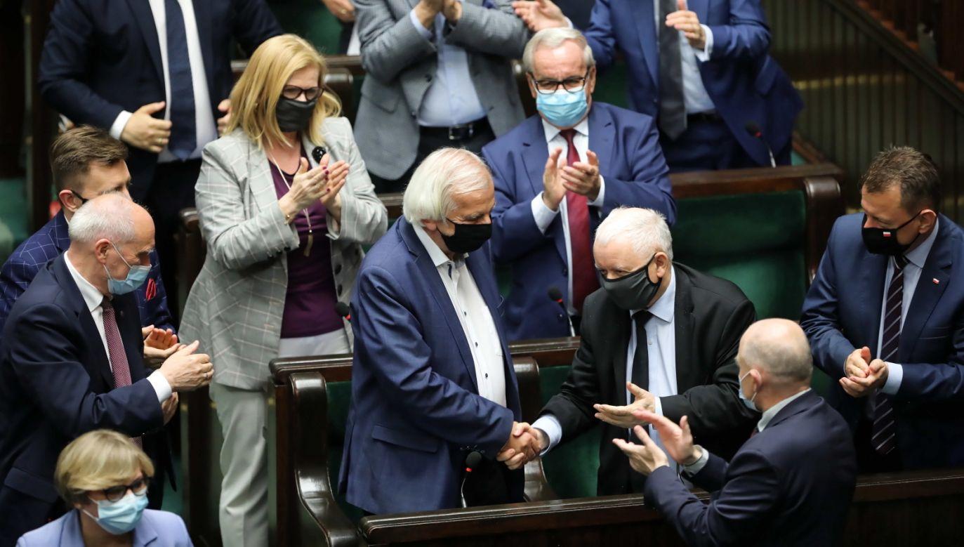 Sejm odrzucił wniosek o odwołanie Ryszarda Terleckiego (fot. PAP/Wojciech Olkuśnik)