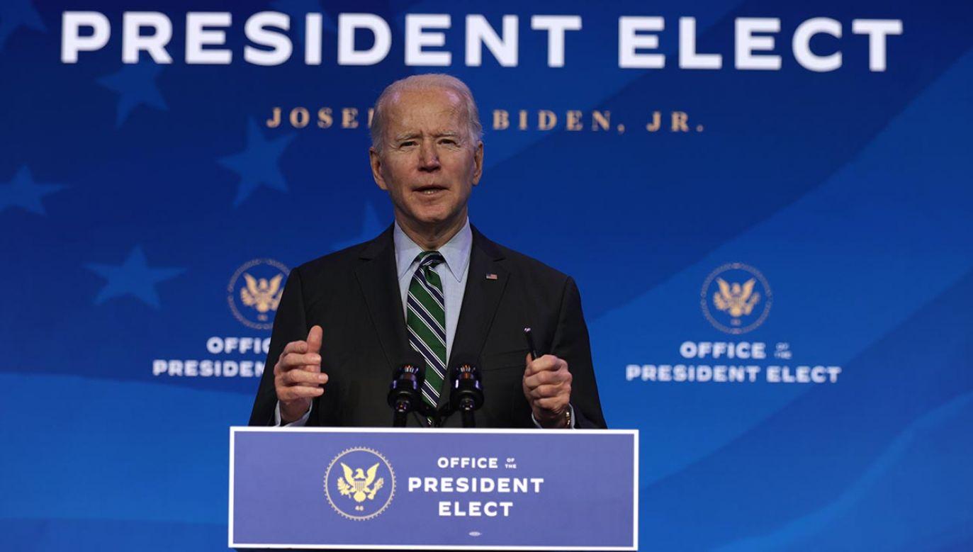 Zaprzysiężenie Joe Bidena odbędzie się w środę (fot. Alex Wong/Getty Images)