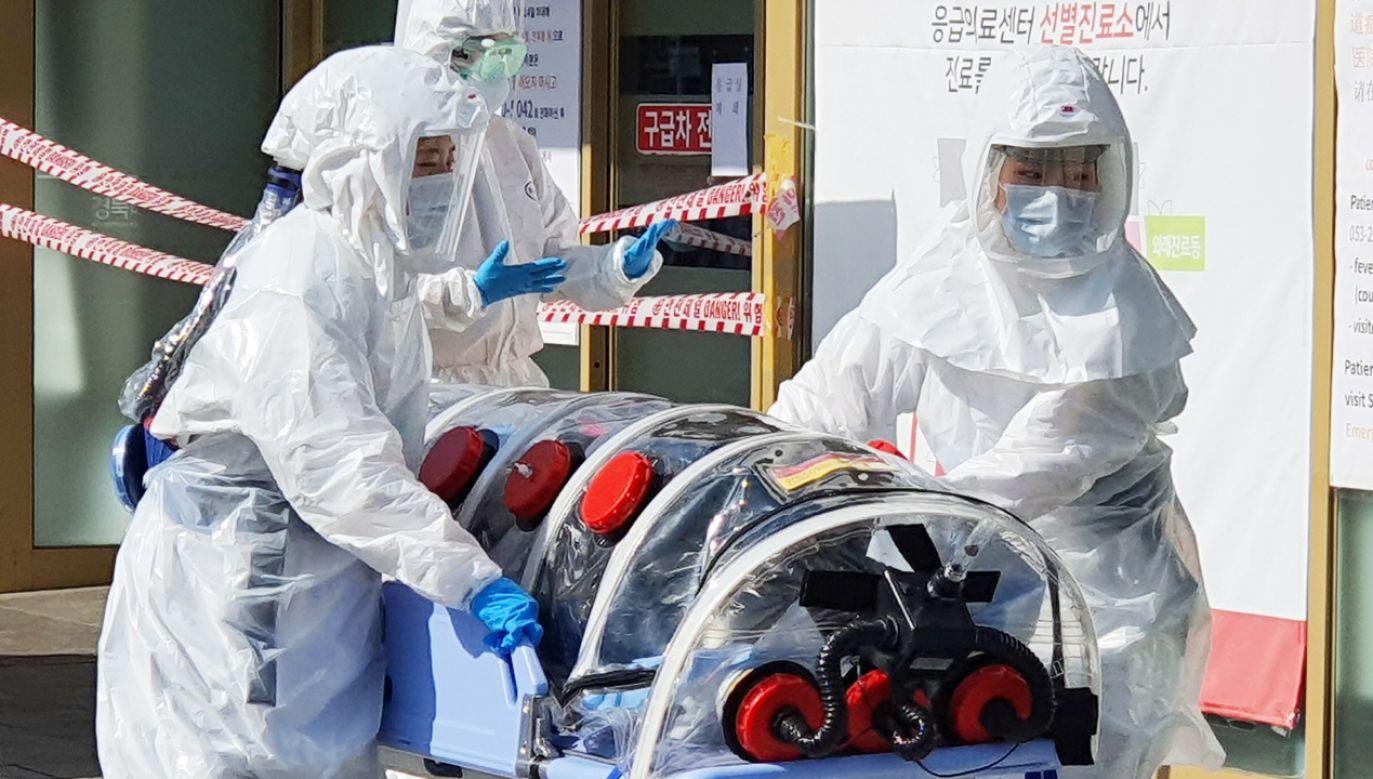 Najtrudniejsza sytuacja jest w dwóch miastach  na południu Korei Południowej – w Daegu i Cheongdo.  (fot. PAP/ EPA/YONHAP)