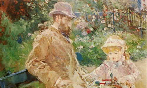 """Eugène Manet z córką Julie w Bougival"" (ok. 1881). Fot. Picturenow/Universal Images Group via Getty Images"