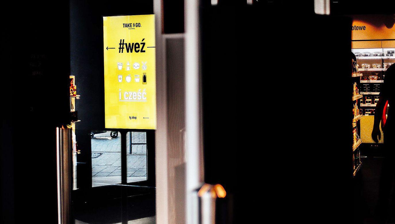 Na deptaku w Poznaniu rozpoczął działalność pierwszy bezkasowy sklep w Polsce (fot. Facebook/Take&GO)