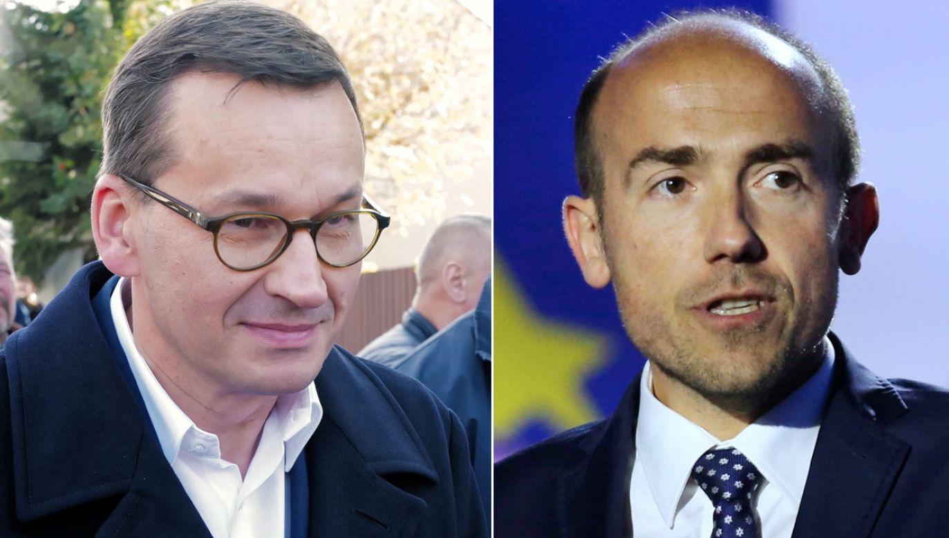 Mateusz Morawiecki i Borys Budka otwierali listy wyborcze PiS i KO (fot. PAP/Andrzej Grygiel)