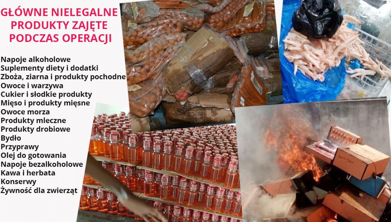 Niepełnowartościowe produkty miały wartości ok. 53,8 mln euro. (fot. mat. pras.)