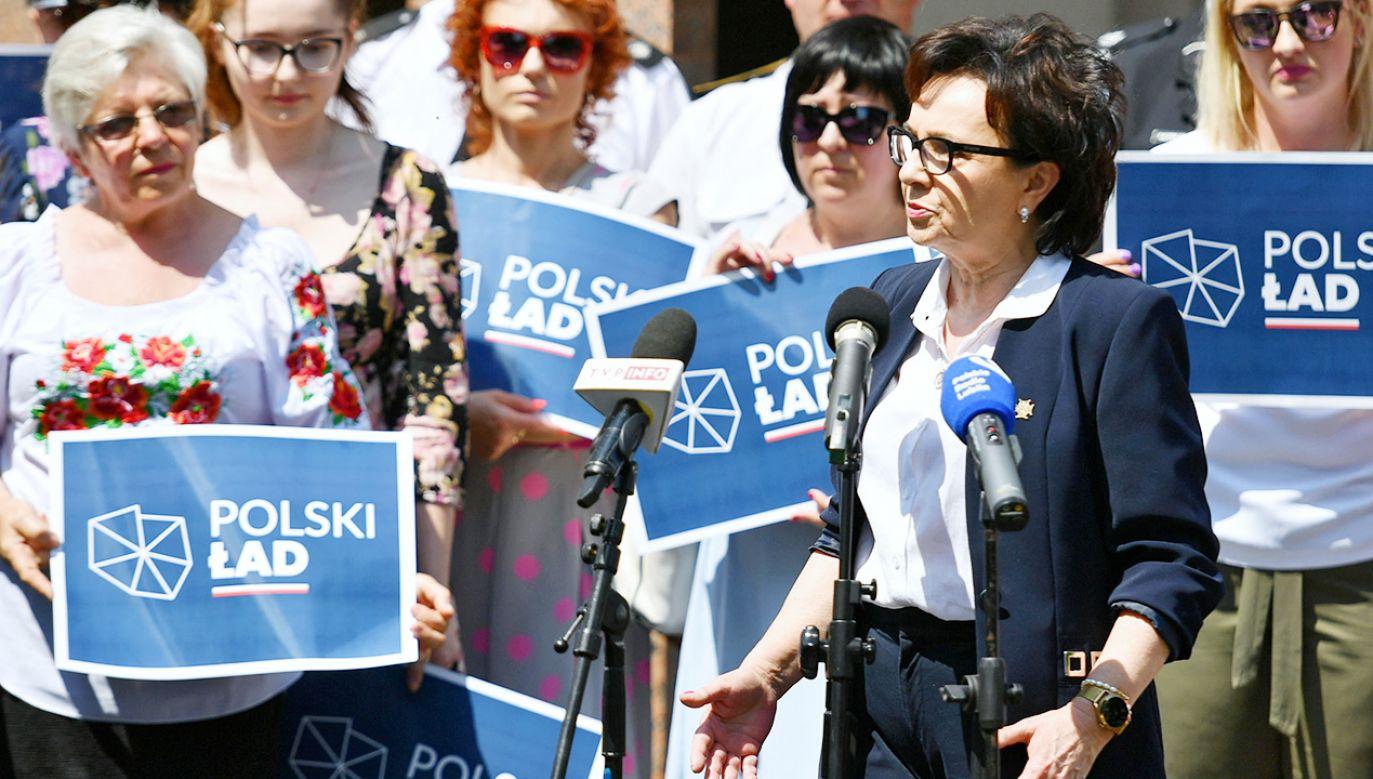 Marszałek Sejmu podkreśliła, że Polski Ład to program długofalowy (fot.  PAP/Wojtek Jargiło)