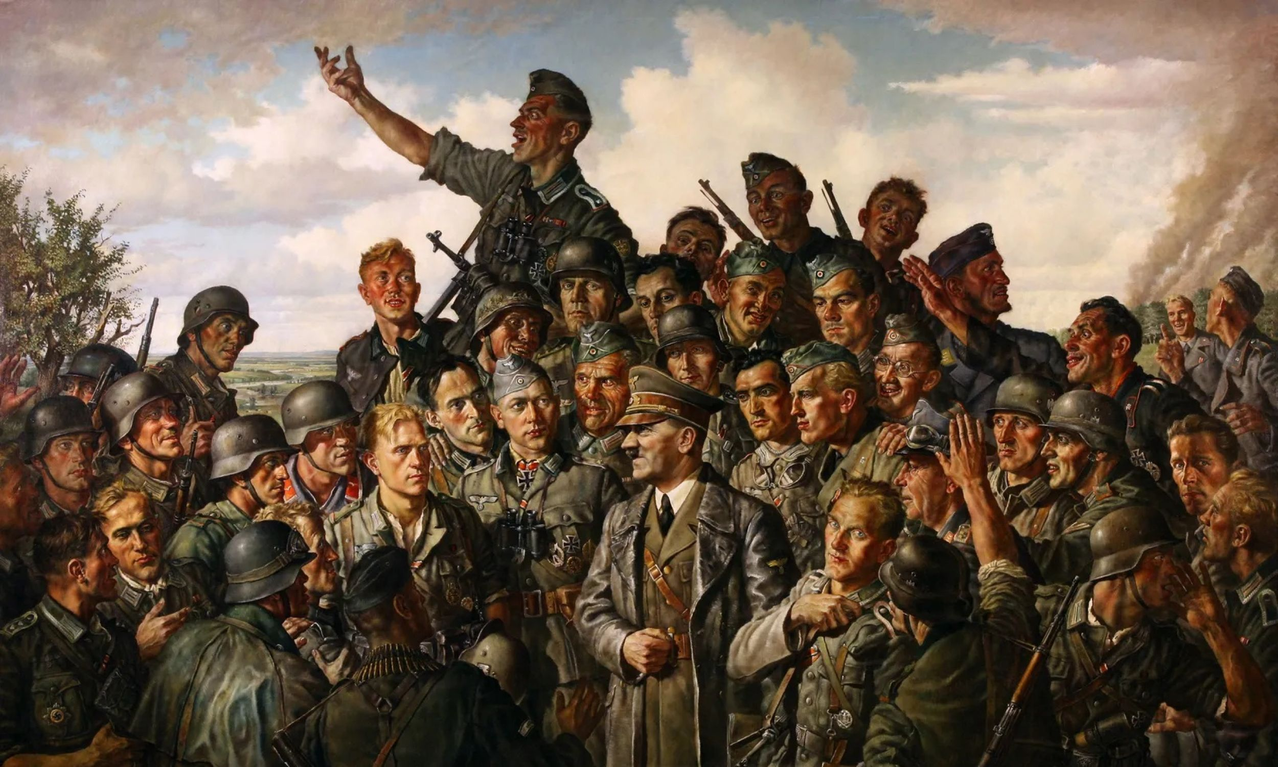 """""""Hitler na froncie"""" Emil Scheibe, 1942. Fot. US Army Center of Military History, Washington, DC, Domena publiczna"""