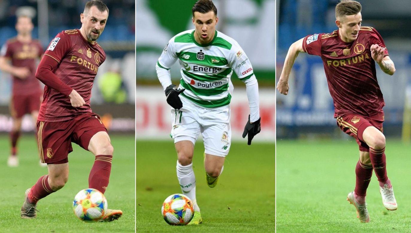 Michał Kucharczyk (L), Konrad Michalak (Ś) i Sebastian Szymański są wśród zawodników, którzy tego lata zamienili Polskę na Włochy (fot. PAP)