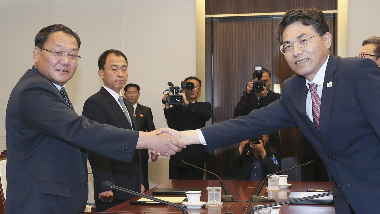 Rozmowy odbywały się w Panmundżomie, gdzie pod koniec kwietnia odbył się szczyt obu Korei (fot. PAP/EPA/KOREA POOL / POOL)