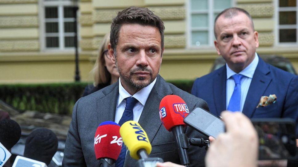 Prezydent Warszawy i były kandydat PO na prezydenta Rafał Trzaskowski (fot. PAP/Radek Pietruszka)