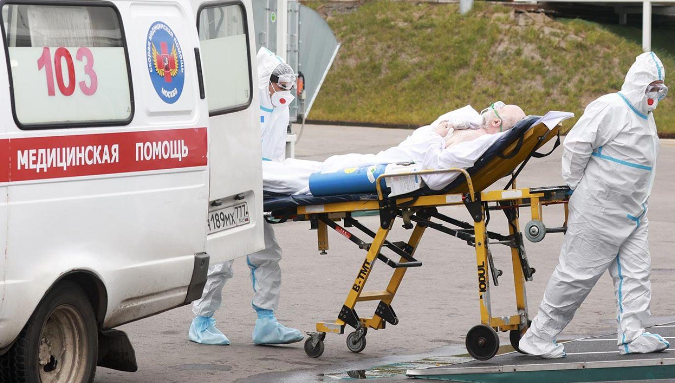 Sytuacja epidemiczna w Rosji coraz bardziej się pogarsza. (fot. Vyacheslav Prokofyev\TASS via Getty Images)