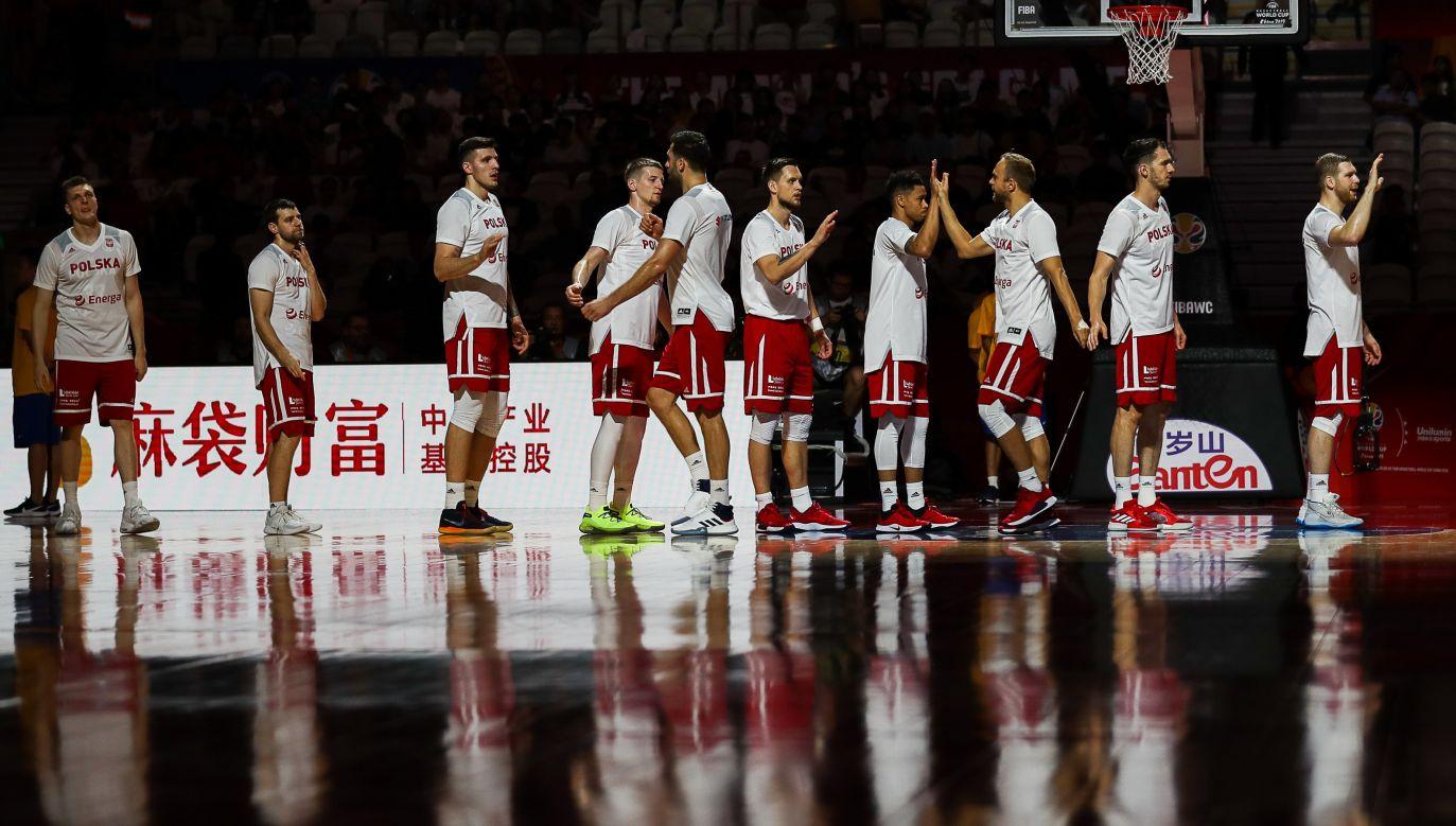 Polska reprezentacja 10 września 2019 r.przed meczem z Hiszpanią. Fot.  Yifan Ding/Getty Images