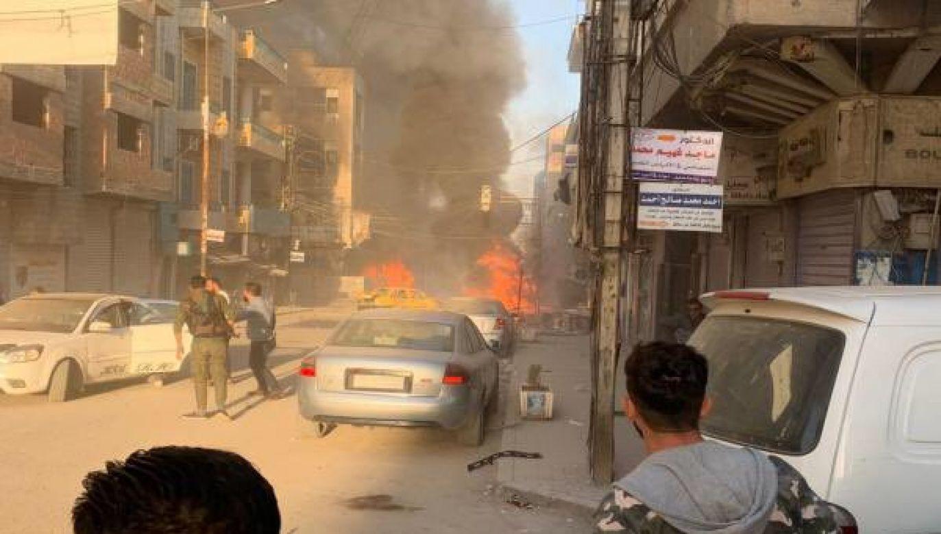 Napastnicy IS zaatakowali ormiańskich duchownych (fot. Twitter/SyriacMilitaryMFS)