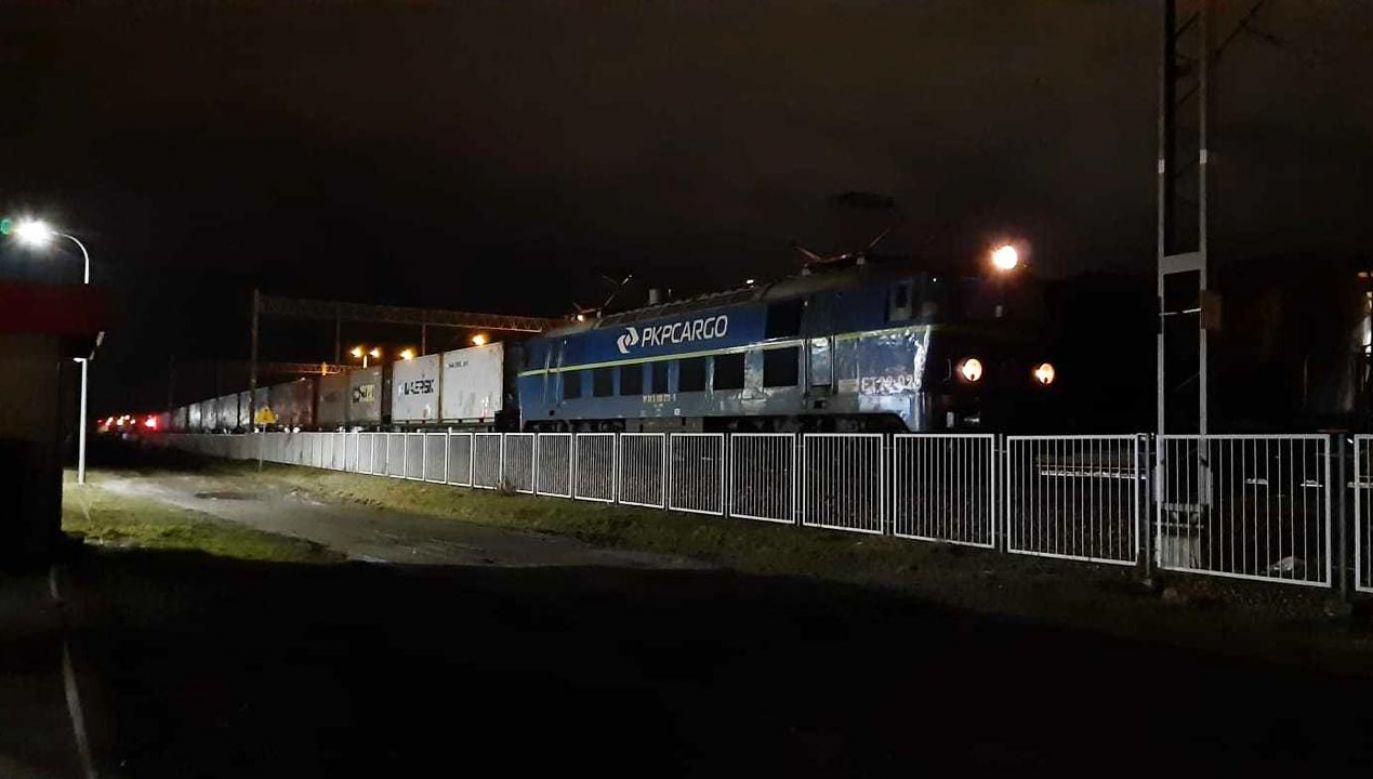 W Polsce tak ciężkich pociągów intermodalnych dotąd nie prowadzono (fot. PKP CARGO)