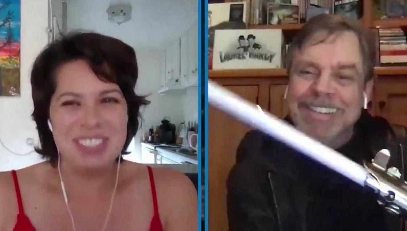 Mark Hammil podziękował Chloe Ducose za walkę z koronawirusem (fot. TT/Jimmy Kimmel)