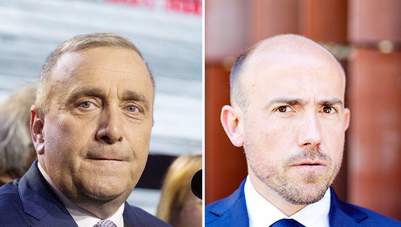 Były – Grzegorz Schetyna (L) i obecny przewodniczący PO Borys Budka (P)  (fot. Getty Images)
