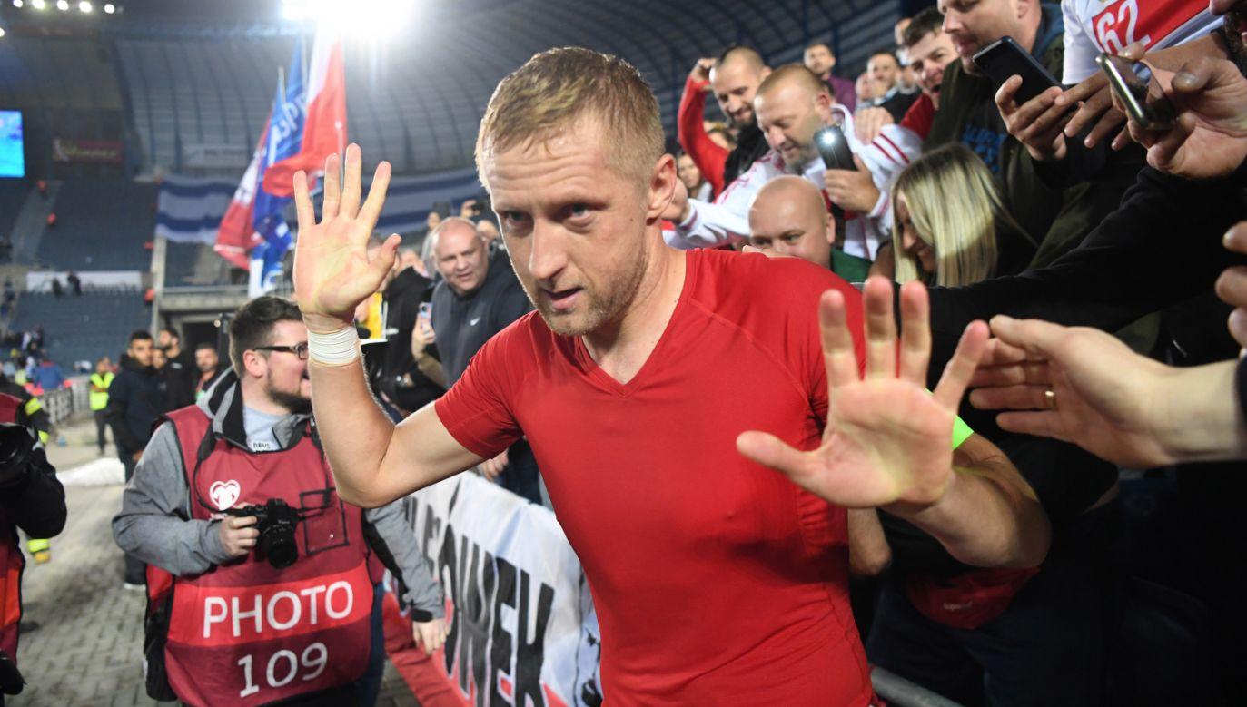 Obrońca piłkarskiej reprezentacji Polski Kamil Glik uważa, że biało-czerwoni rozegrali w Jerozolimie bardzo dobre spotkanie z Izraelem (fot. PAP/Piotr Nowak)