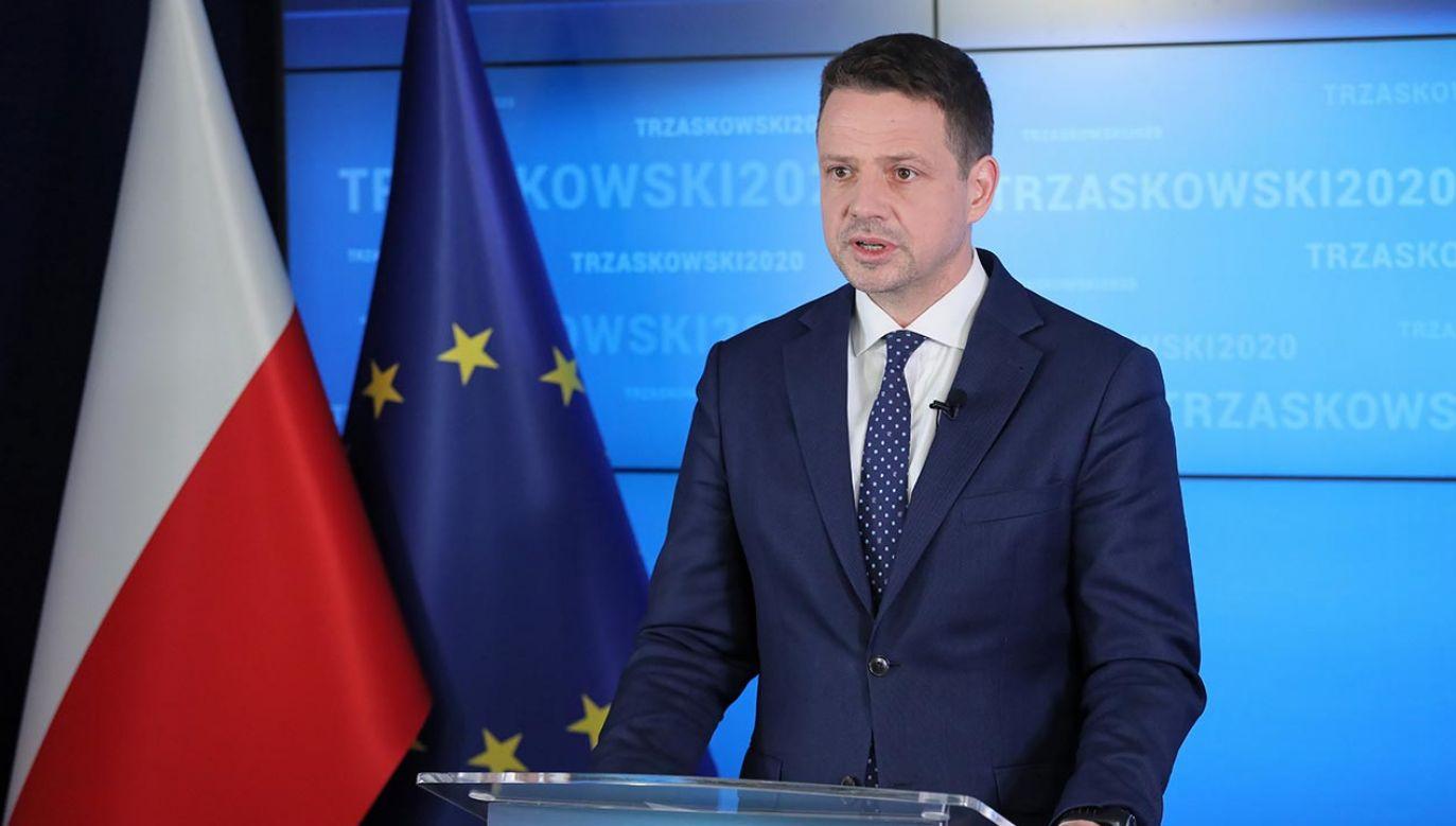Rafał Trzaskowski odwiedził w weekend Pomorze Zachodnie jako samorządowiec, nie zaś w ramach kampanii wyborczej (fot. PAP/Paweł Supernak)