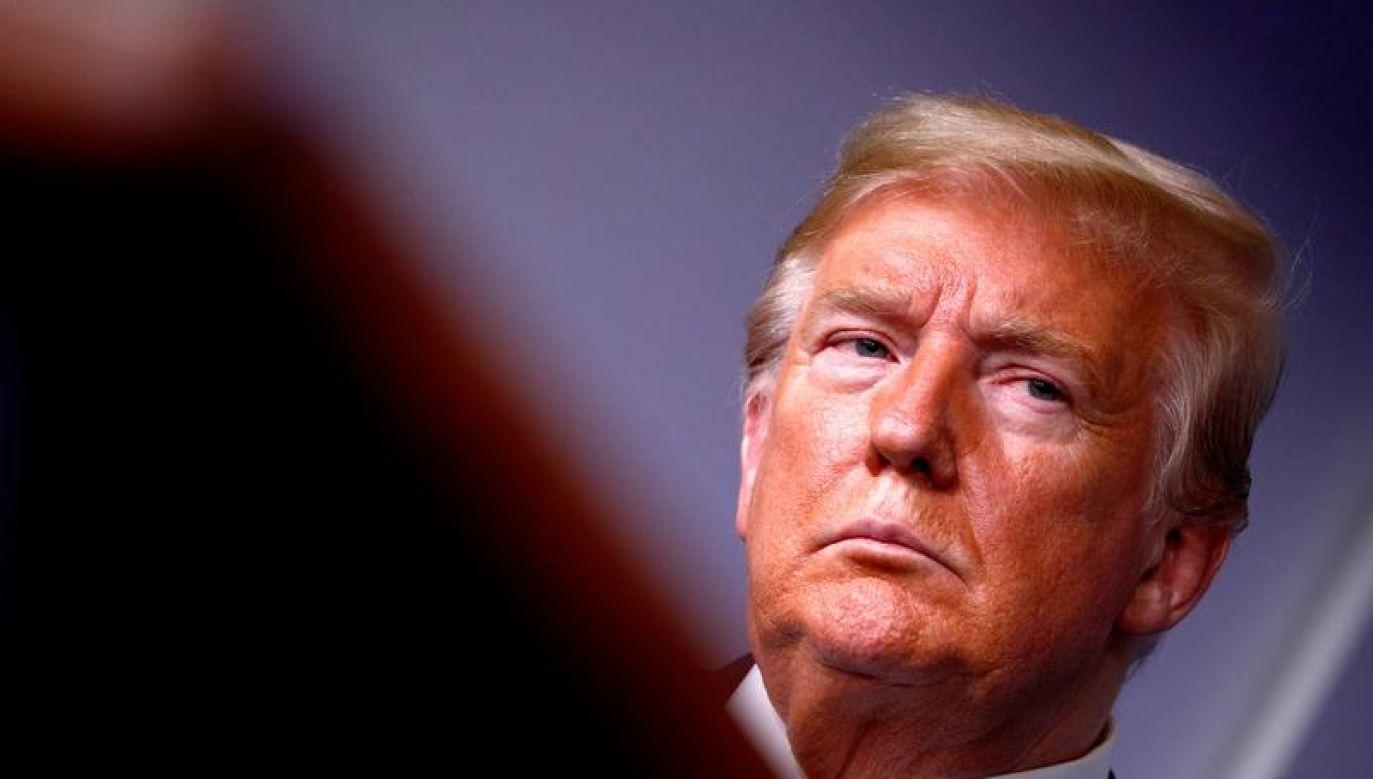 Po raz pierwszy Trump poddał się testowi na koronawirusa w marcu (fot. REUTERS/Tom Brenner)