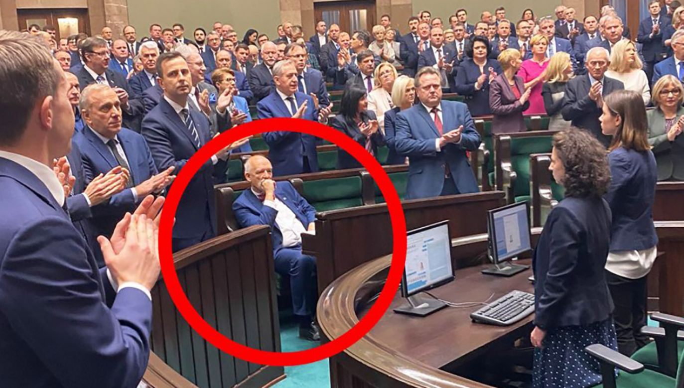 Krystian Kamiński krytycznie odniósł się do zachowania Janusza Korwin-Mikkego (fot. tt/Krzysztof Gawkowski)