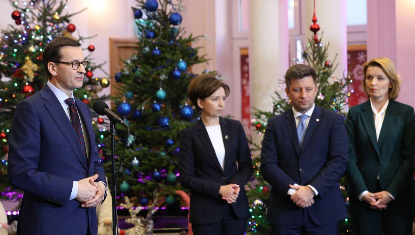 W uroczystości powołania Rady Rodziny wziął udział premier Mateusz Morawiecki (L) (fot. KPRM)