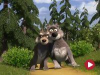 Masza i niedźwiedź, odc. 9 – Sama wśród wilków